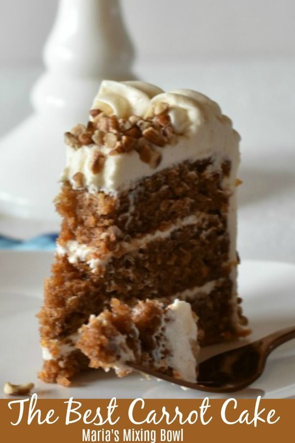 The Best Carrot Cake is incredibly moist and and super delicious Topped with a sweet and creamy cream cheese frosting you will swoon over this cake