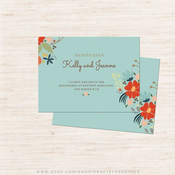 Little Cub Baby Shower Registry Card Invitation Insert Fall By