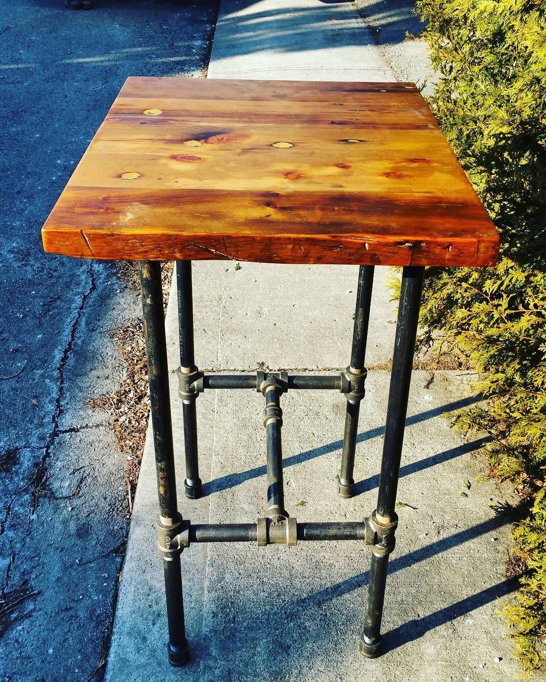 High Top Jillyswood Wood Bar Table Reclaimedwood Woodrescue