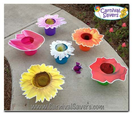 ba3ef50ea2 Spring Party / Carnival Game idea -- Flower Power! This is cute - but  another bean bag toss game, which we don't need. Pinning it for future