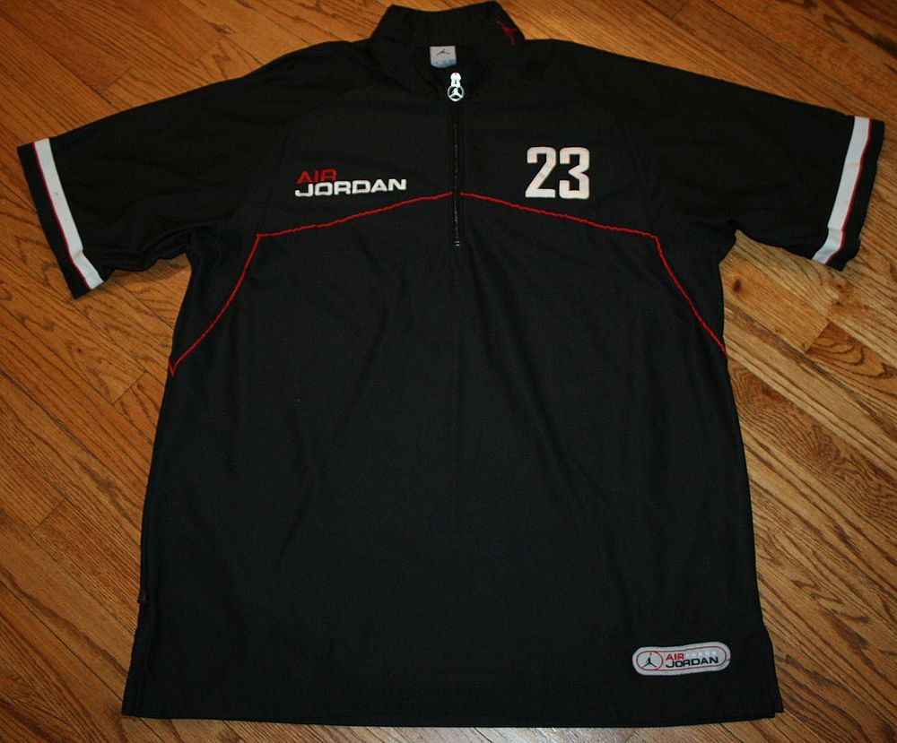 23 nike air jordan chicago bulls half zip pullover warmup. Black Bedroom Furniture Sets. Home Design Ideas