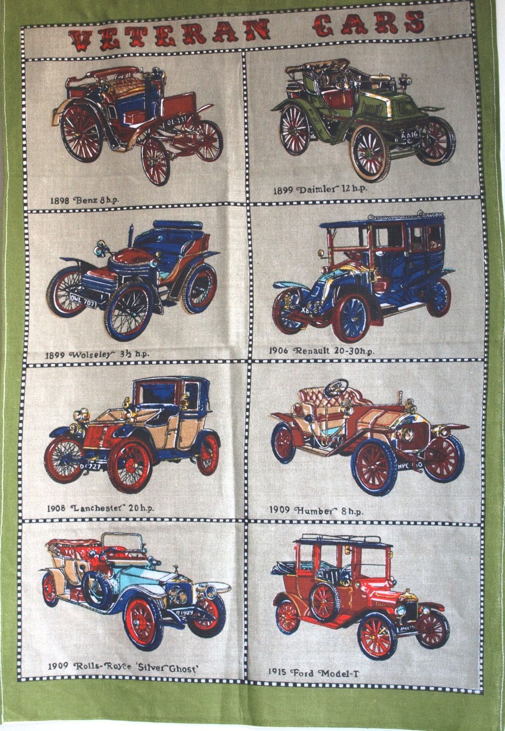 Reserved For Kate Classic Cars Veteran Cars Tea Towel Veteran Car Classic Cars Tea Towels