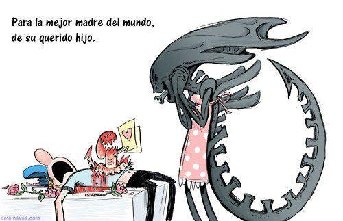 Alien Mother's Day - Día de la madre en casa de Alien   Película de extraterrestres, Personajes de terror, Peliculas de terror