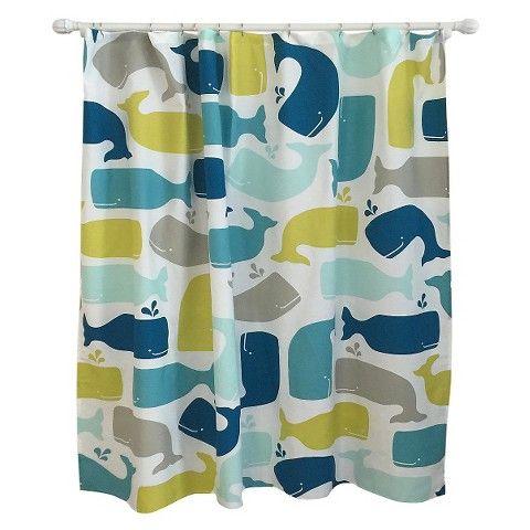 Whale Shower Curtain Amparo Blue Pillowfort Whale Shower