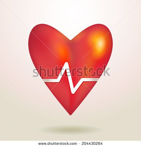 Red Glossy Shiny Three Dimensional Heart 3d On A White Background