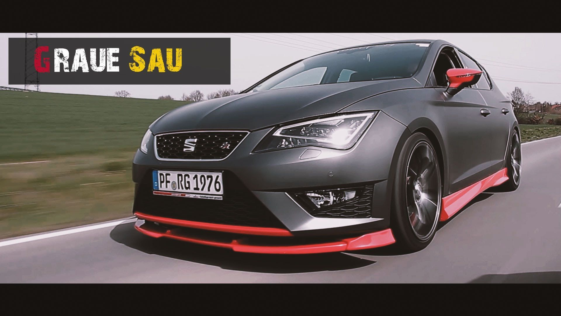 seat leon 5f die graue sau tuning car porn video. Black Bedroom Furniture Sets. Home Design Ideas