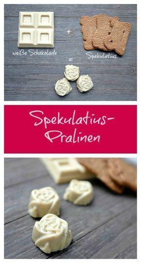 Pralinen aus weißer Schokolade und Spekulatius - Schnelle Rezepte aus meiner Küche