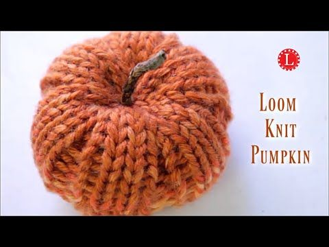 LOOM KNIT Pumpkin Pattern for Decoration Thanksgiving Table Setting