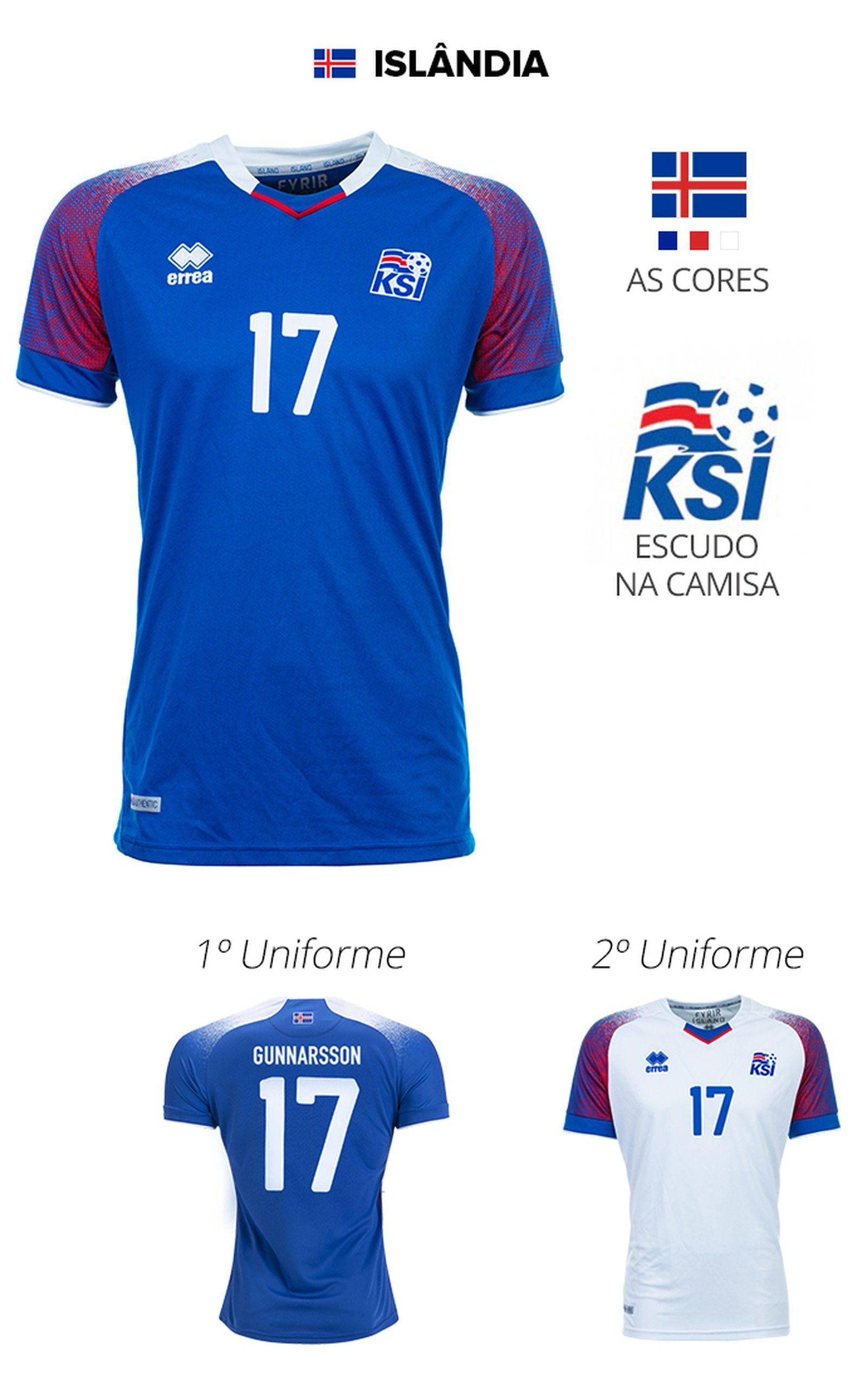 As camisas das 32 seleções da Copa  3a85fbe9125e2