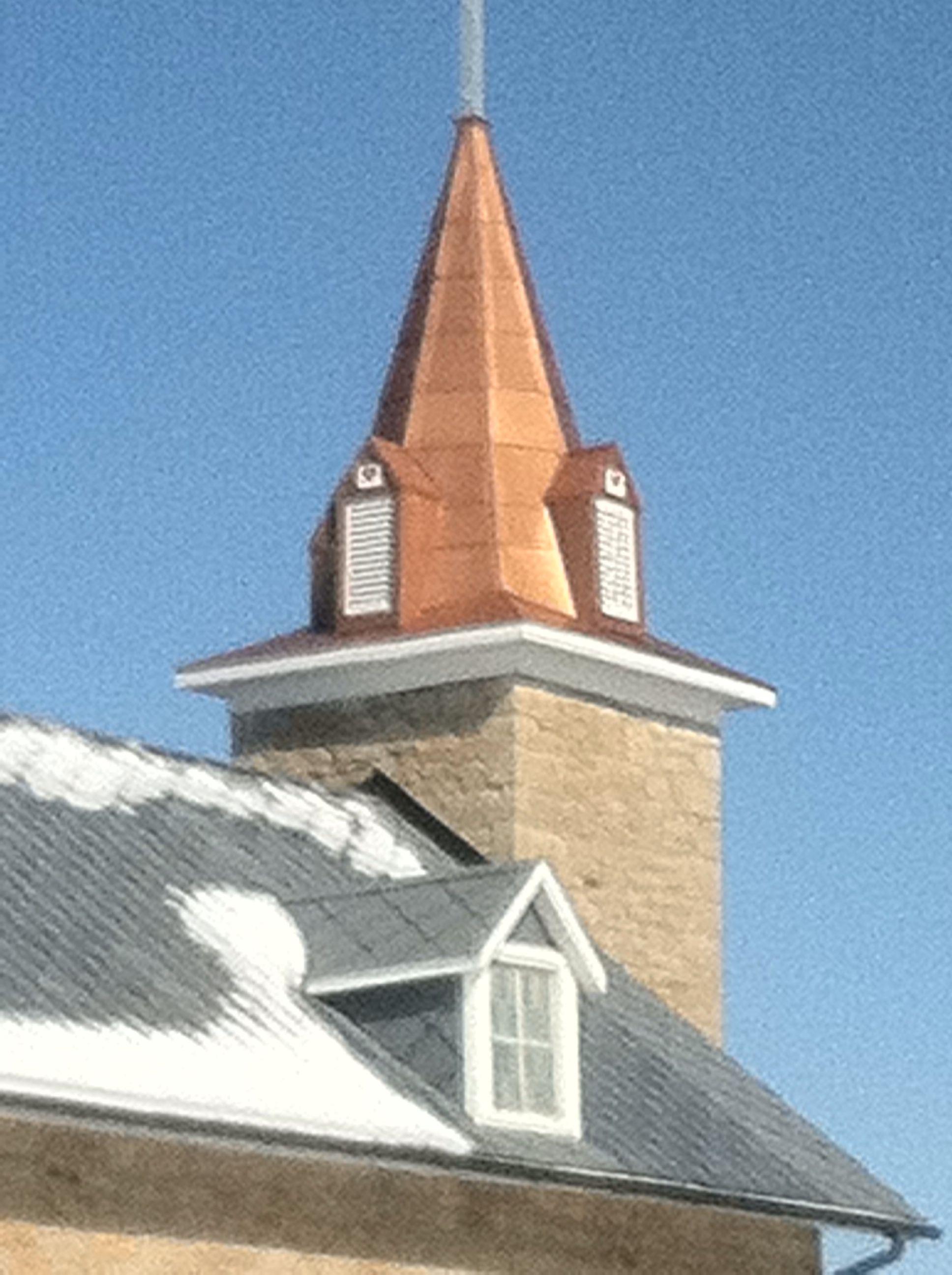 Copper church steeple