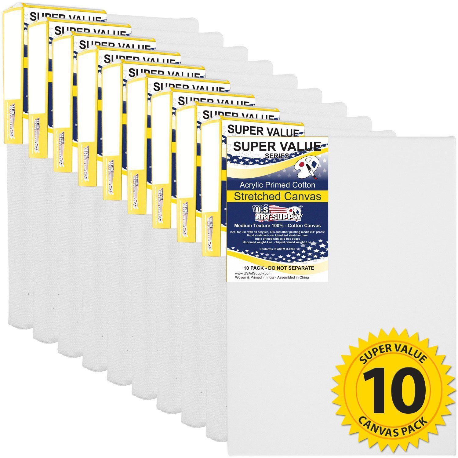 Super value pack of 10 canvases for only 1596 stretch