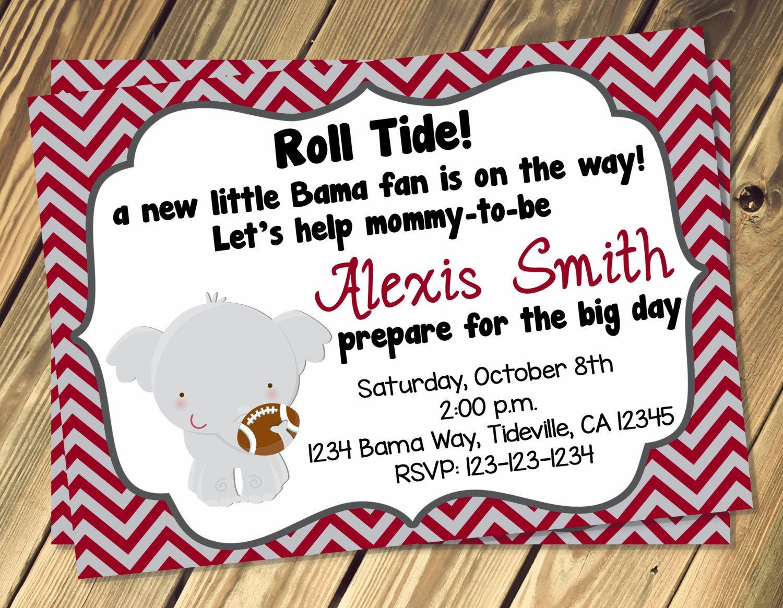 Alabama Baby Shower Invitation Print