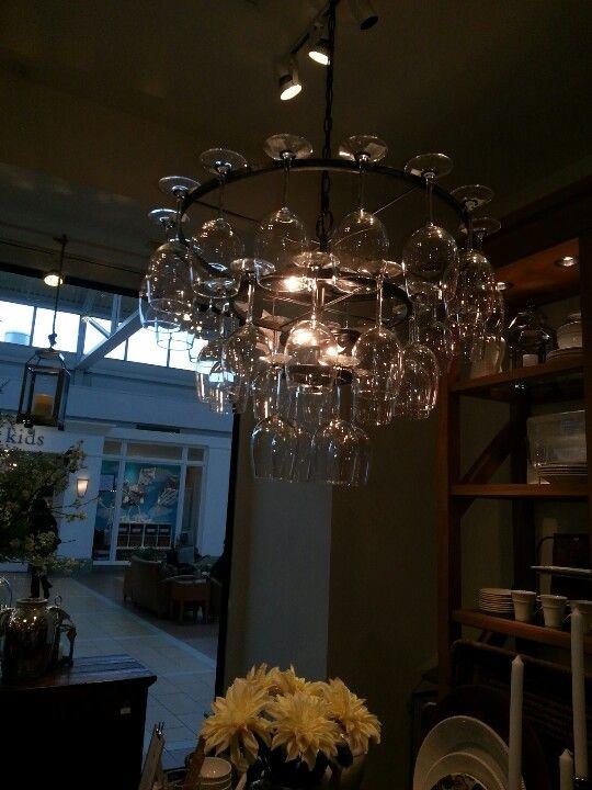 Pottery Barn Wine Glass Chandelier Wine Glass Chandelier Chandelier Ceiling Lights