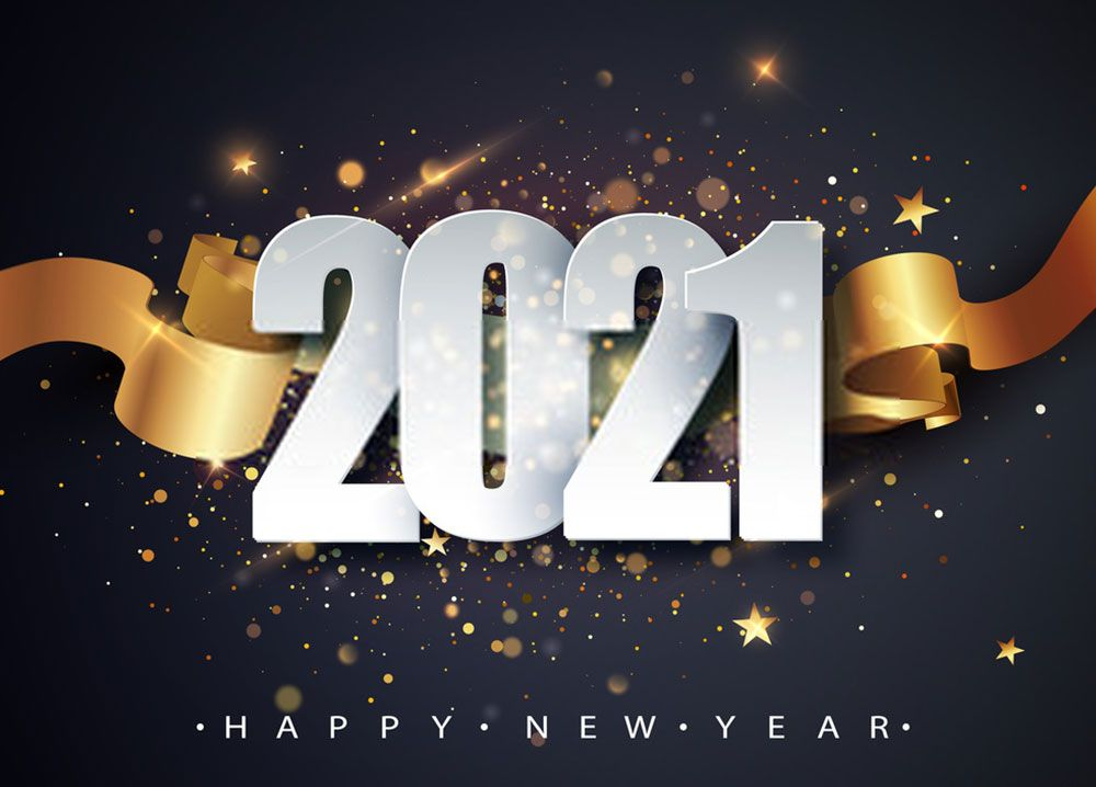 Stunning Happy New Year 2021 Wallpaper In 2020 Happy New Year Wallpaper Happy New Year Cards Holiday Greeting Card Design