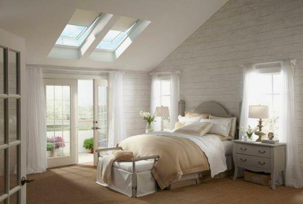 Gestaltungsideen-Schlafzimmer-mit-Dachschräge | For the Home ...
