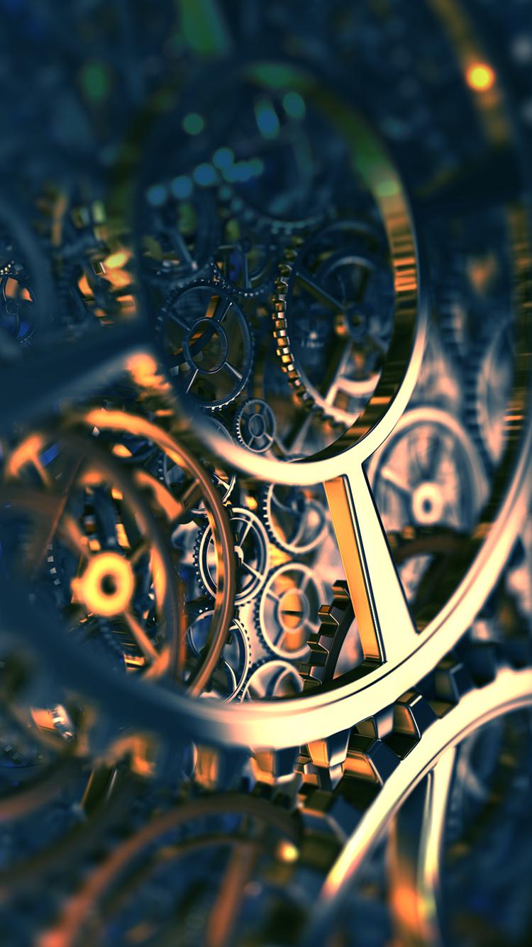 TAP AND GET THE FREE APP! Art Creative Macro Time Clock Gold Mechanics HD iPhone 6 Wallpaper ...