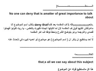 مقدمة وخاتمة براجراف Paragraphs لامتحانات اللغة الانجليزية جديدة مع جمل وكلمات البراجراف الهامة Sayings Deny Math