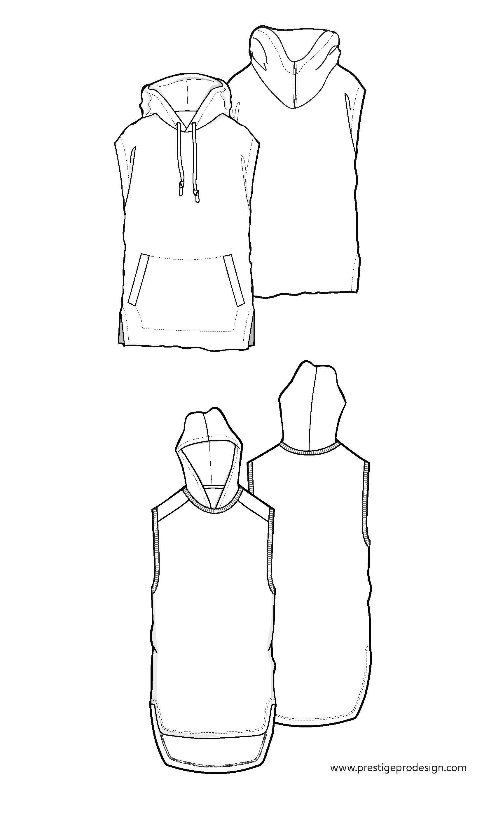 Sleeveless, hooded | Flat Pack Illustration | Pinterest | Modetrends ...