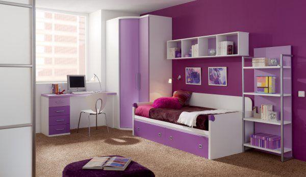 Cama nido con cajones para ni as dormitorio en formicas - Muebles para habitaciones pequenas juveniles ...