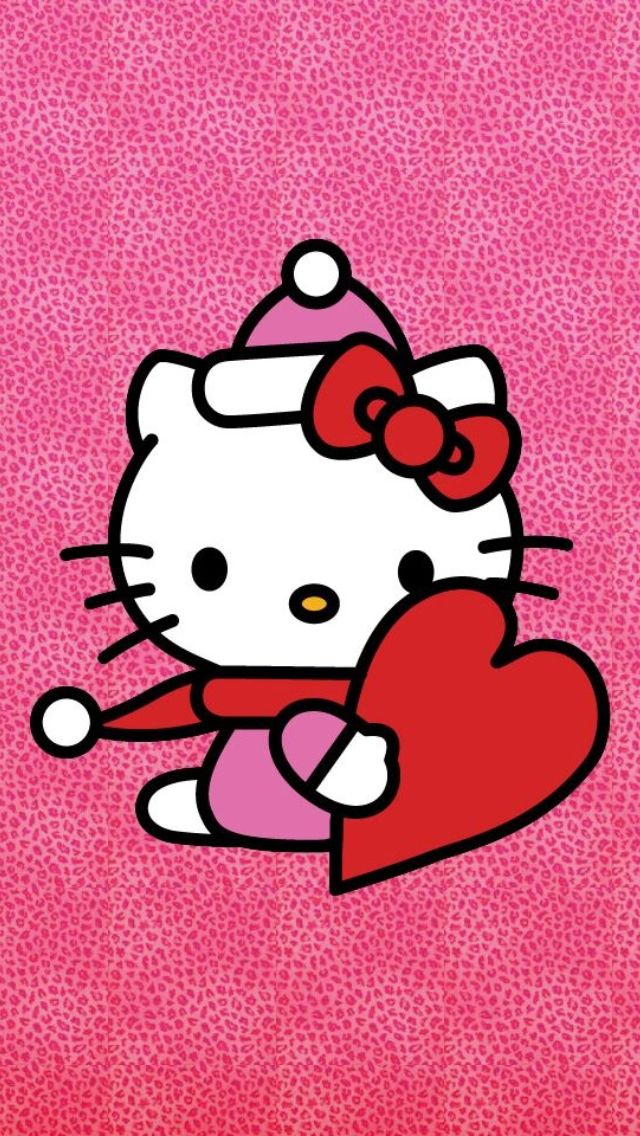 iPhone Wallpaper Valentine's Day tjn Hello kitty
