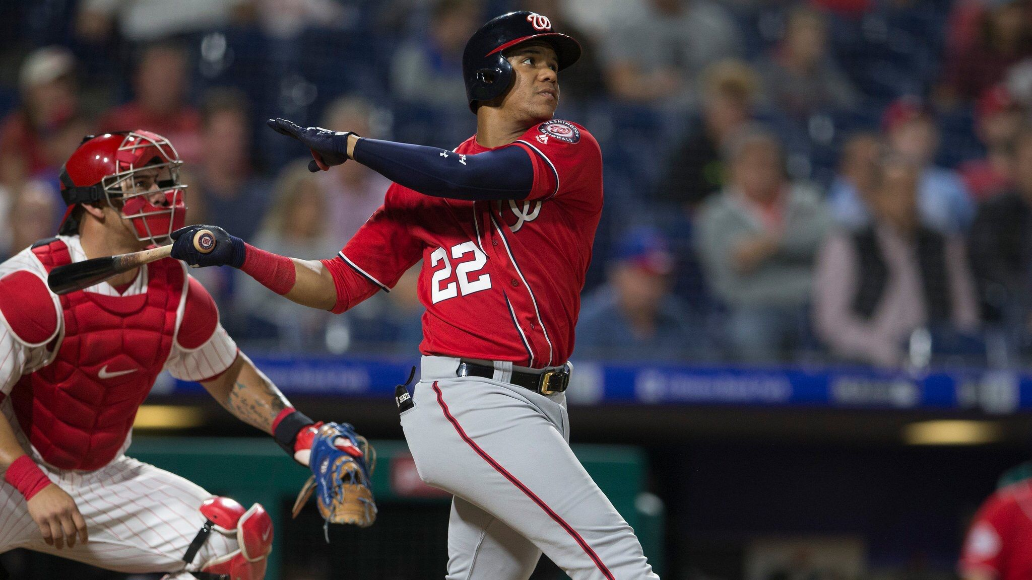 September 12 2018 Juan Soto Became The First Teenager In Mlb History To Have Three Multi Homer G Sports Photograph Washington Nationals Philadelphia Phillies