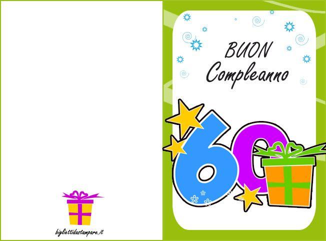 Buon Compleanno 60 Compleanno Auguri Di Compleanno Buon Compleanno