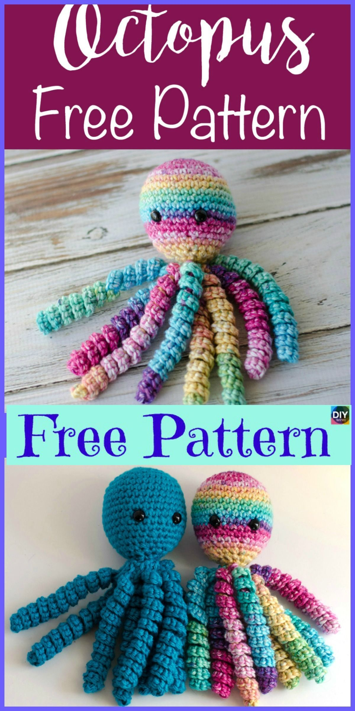 Best 11 Adorable Crochet Octopus Amigurumi - Free Pattern #freecrochetpatterns #octopus #amigurumi #gift #crochetoctopus