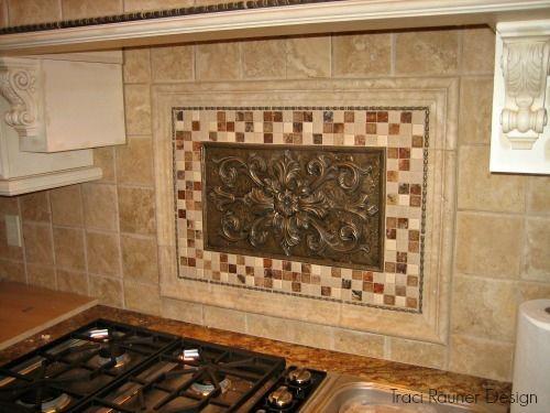 Backsplash Medallions Google Search Granite Kitchen Tiles Quartz Countertops