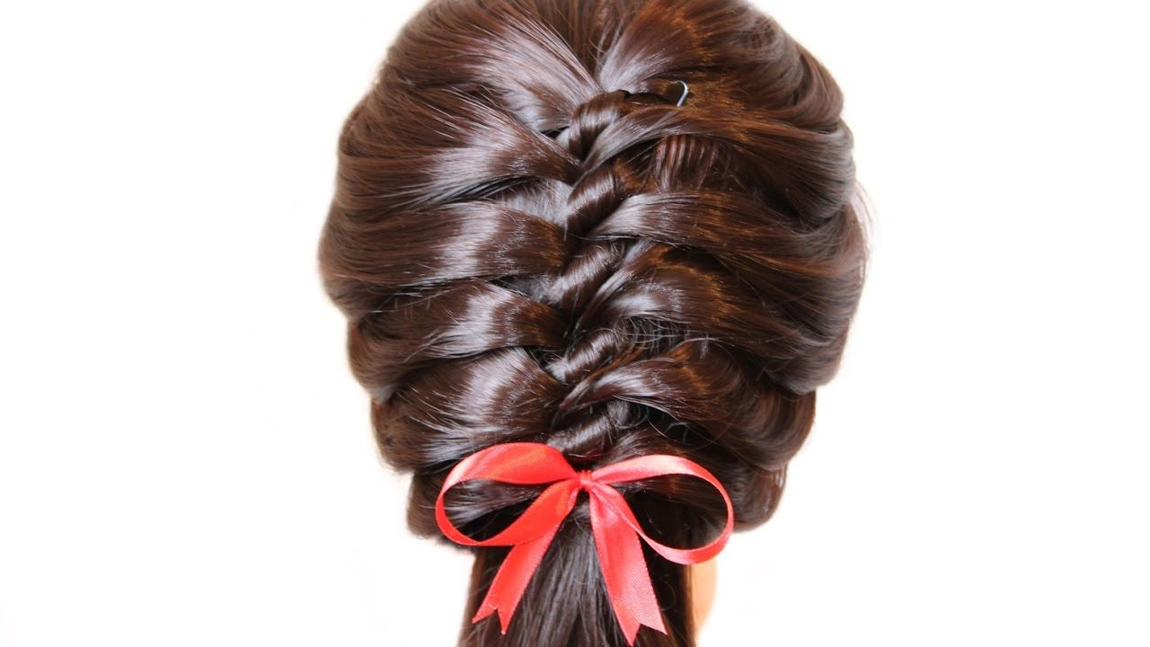 Very Beautiful Hairstyle For School Hairstyle For 3 5 Minutes Hairstyles For School Beautiful Hair Hairstyle