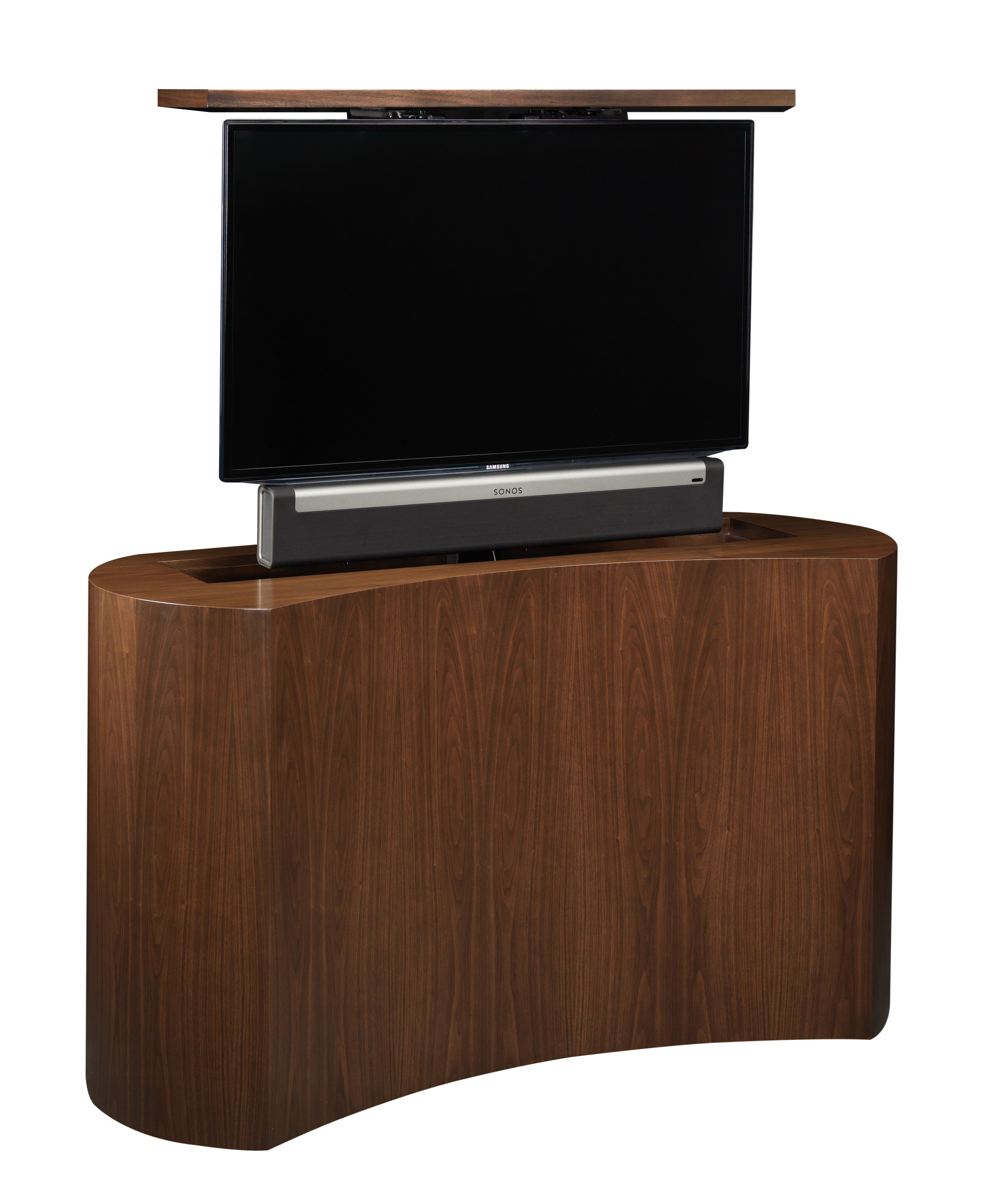 Tv Lift Cabinets By Cabinet Tronix Shows How The Tv And The Sonos  # Meuble Tv Lift