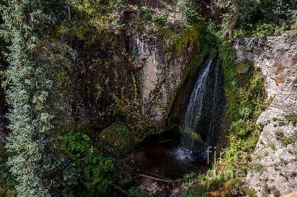 Trujillo Meadow Reservoir Waterfall - Colorado Print By Debra Martz
