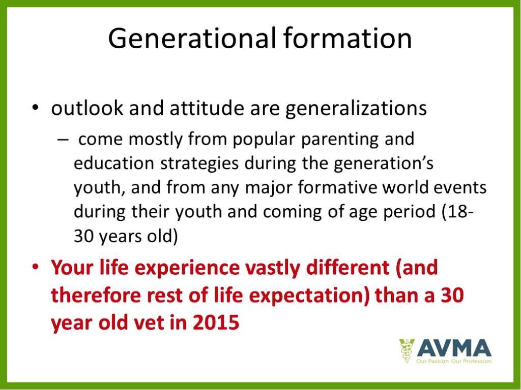 The Impact Of Millennials On The Veterinary Workforce Webinar Webinar Career Development Life Experiences