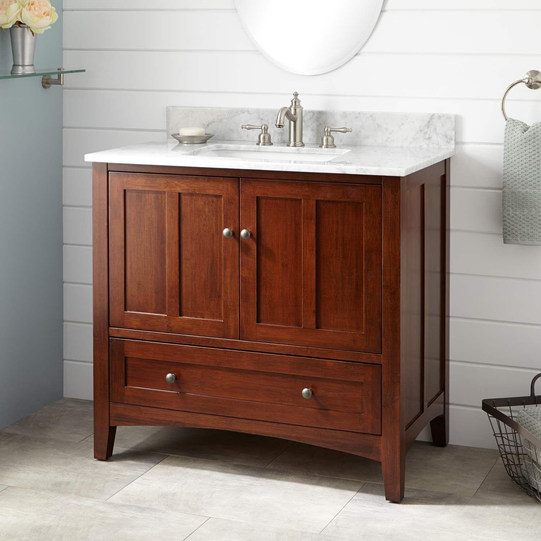 36 Evelyn Bamboo Vanity For Rectangular Undermount Sink Light Espresso Bathroom Vanity Vanity Sink Vanity [ 1500 x 1500 Pixel ]