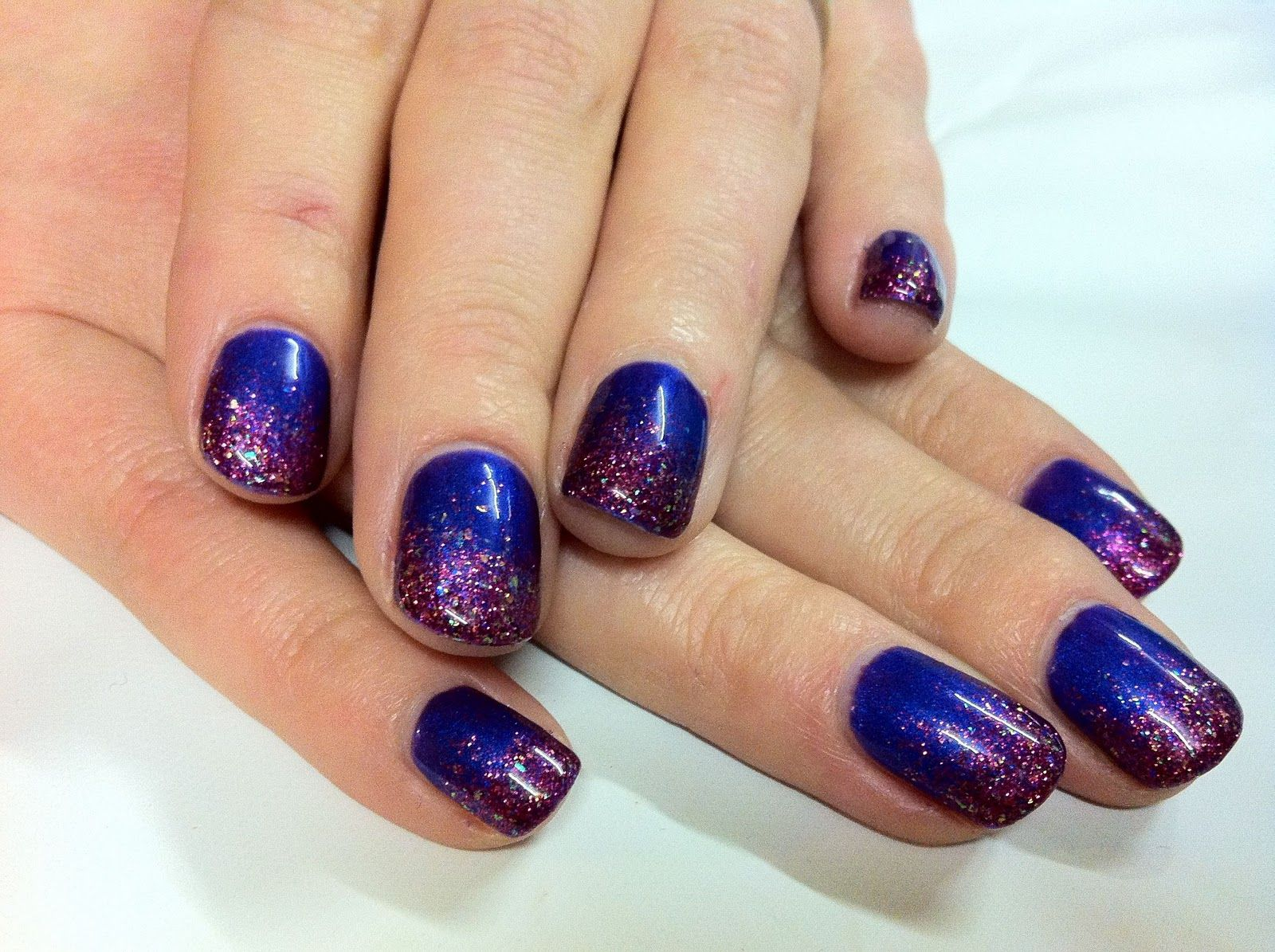 brush up and polish up!: cnd shellac nail art - purple purple