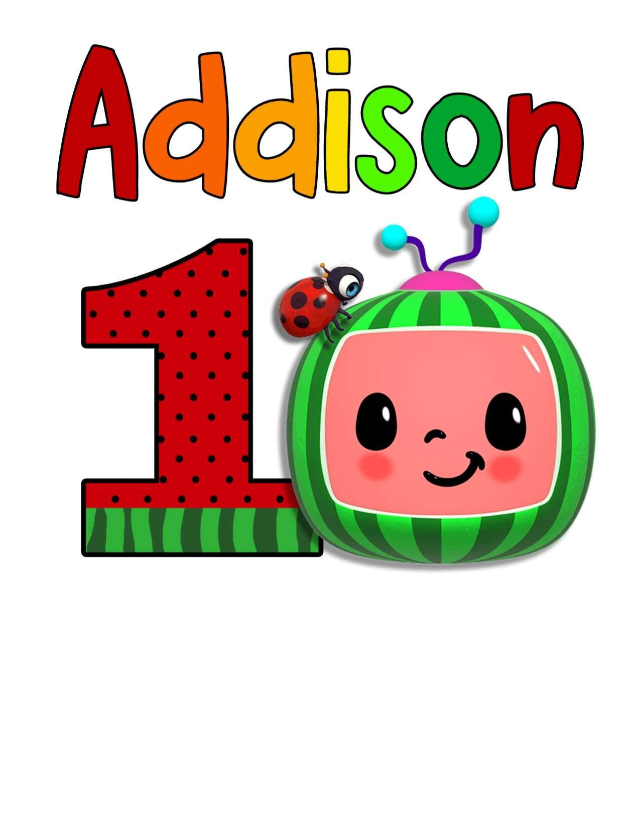 Personalize Customizable Cocomelon First Birthday Shirts Png File Diy Bobo Kids Themed Birthday Parties 1st Birthday Party Themes 2nd Birthday Party For Girl