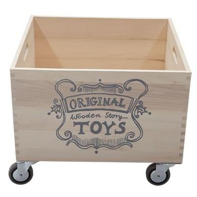 Wooden Story Wooden Storage Box On Wheels Cajas De Almacenaje De Madera Cajas Almacenaje Muebles De Casa De Munecas Diy