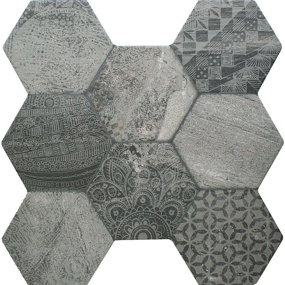 Tribal Stone Tiles Ruvido Hexagon 450x450x9mm
