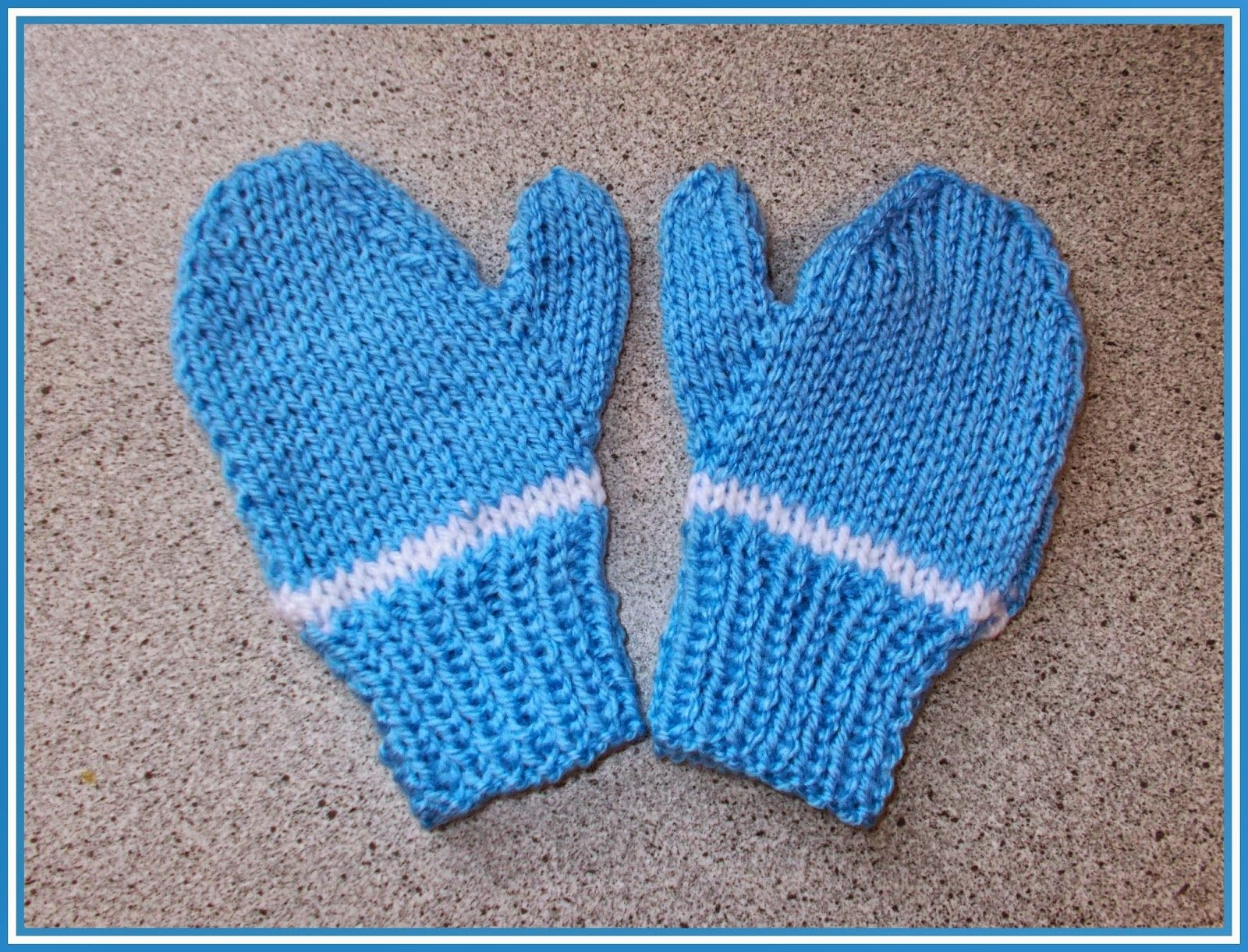 Easy 2-needle toddler and child mittens - boy or girl (marianna\'s ...