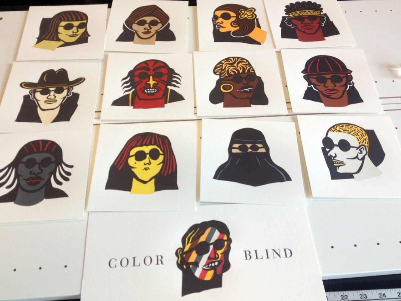 Faces from Color Blind | Limited edition Letterpress Book | printed ...