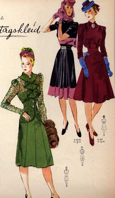 Deutsche ModenZeitung 1940 (With images) Retro fashion