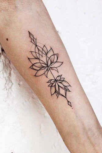 53 besten Lotus Flower Tattoo-Ideen, um sich auszudrücken, #auszudrücken #besten #flower #Hen...