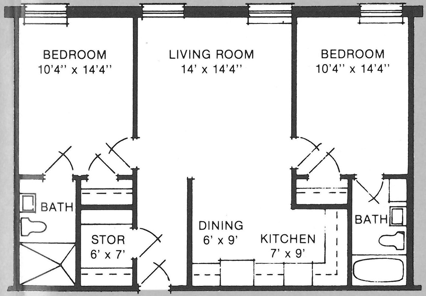 Cool 500 square feet apartment floor plan home decoration Small condo plans