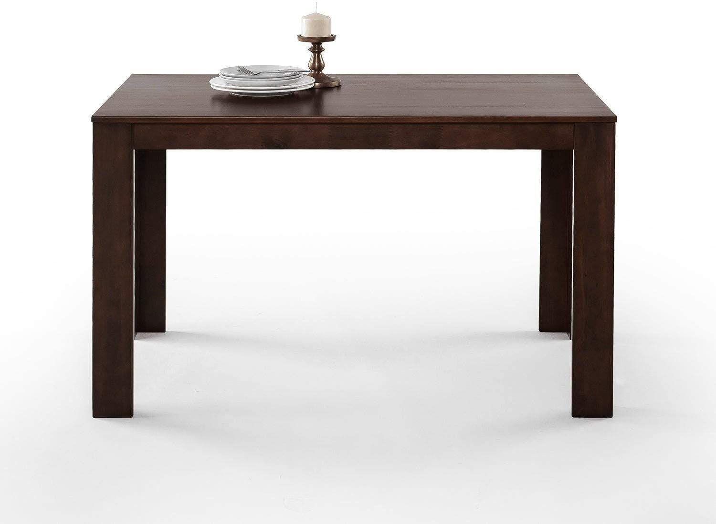 Mission Style Wood Dining Table Rectangle Pine Mahogany Finish
