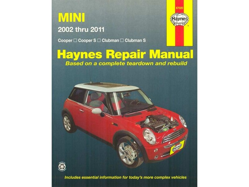 Haynes Repair Manual Mini Cooper 2002 2011 Mini Cooper Repair Manuals Mini