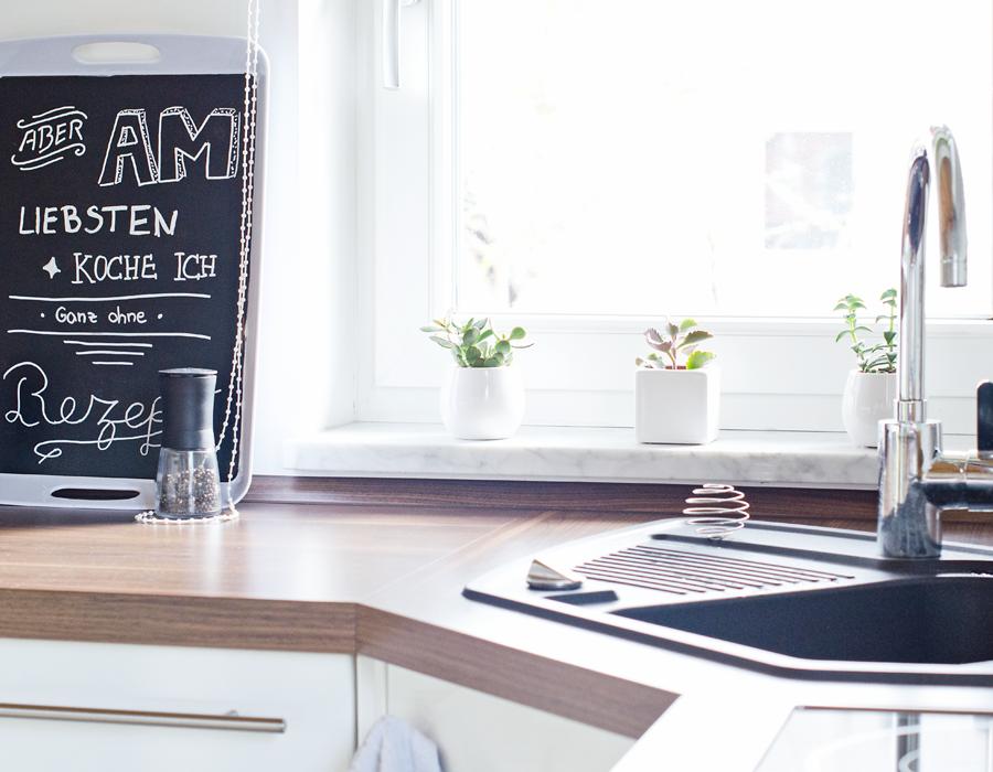 Kitchen Interior Scandinavian Nordic DIY Blackboard Paint Tafelfarbe