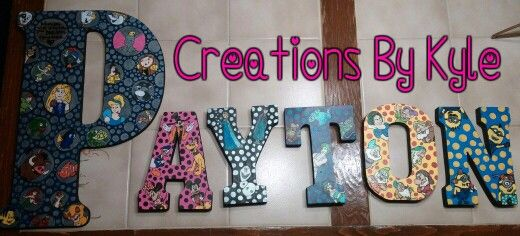 Disney character letters