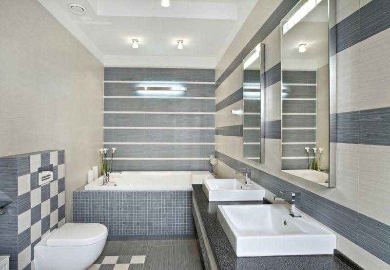 Moderne Badezimmer u2013 40 luxuriöse Einrichtungsideen - muster badezimmer