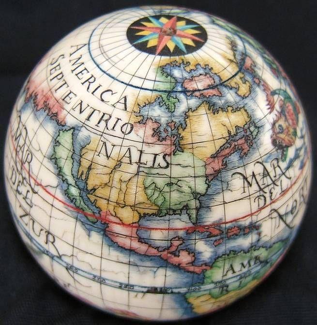 Scrimshaw Globe