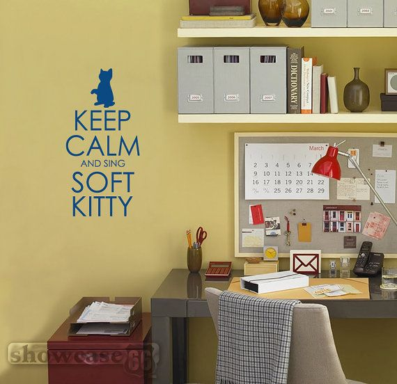 Keep Calm and Sing Soft Kitty Vinyl Wall Art FREE by showcase66 ...