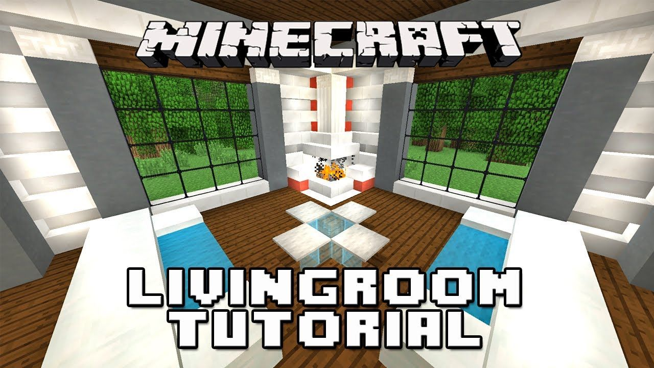 Minecraft Tutorial How To Make A Living Room Furniture And Fireplace This Is A Amaz Minecraft Tutorial Minecraft Interior Design Minecraft House Tutorials